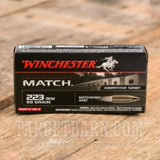 Winchester 223 Rem Ammunition - 20 Rounds of 69 Grain HP-BT Sierra Matchking