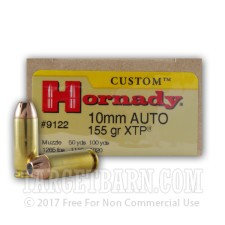 Hornady Custom 10mm Auto Ammunition - 20 Rounds of 155 Grain XTP