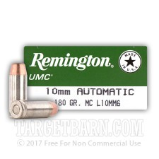 Remington UMC 10mm Auto Ammunition - 50 Rounds of 180 Grain MC