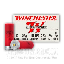 "Winchester Super Target 12 Gauge Ammunition - 25 Rounds of 2-3/4"" 1-1/8 oz. #8 Shot"