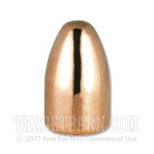 ".356"" Berry's 9mm Luger Bullets - 1000 Qty - 124 Grain Plated Round Nose-Double Struck"