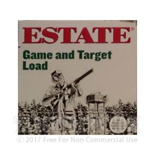 "Estate Game and Target 12 Gauge Ammunition - 25 Rounds of 2-3/4"" 1 oz. #6 Shot"