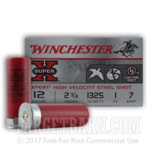 "Winchester XPERT 12 Gauge Ammunition - 25 Rounds of 2-3/4"" 1 oz. #7 Steel Shot"