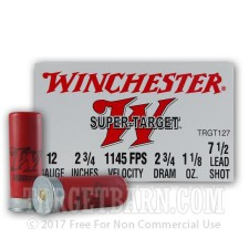 "Winchester Super Target 12 Gauge Ammunition - 25 Rounds of 2-3/4"" 1-1/8 oz. #7.5 Shot"