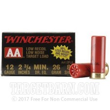 "Winchester AA 12 Gauge Ammunition - 250 Rounds of 2-3/4"" 7/8 oz. #8 Shot"