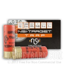 "12 Gauge - 2-3/4"" 1-1/8 oz. #7.5 Lead Shot - NobelSport Skeet - 250 Rounds"