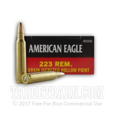 Federal American Eagle 223 Remington Ammunition - 20 Rounds of 50 Grain JHP