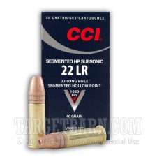 CCI Subsonic 22 LR Ammunition - 50 Rounds of 40 Grain CPSHP