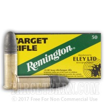 Remington Eley Target 22 LR Ammunition - 50 Rounds of 40 Grain LRN
