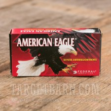 Federal American Eagle 380 Auto Ammunition - 50 Rounds of 95 Grain FFJ