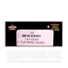 Armscor 300 AAC Blackout Ammunition - 20 Rounds of 147 Grain FMJ