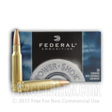 Federal Power-Shok 308 Winchester Ammunition - 20 Rounds of 150 Grain SP