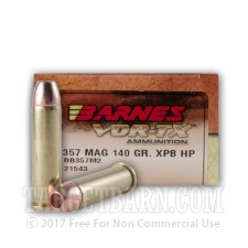 Barnes VOR-TX 357 Magnum Ammunition - 20 Rounds of 140 Grain XPB HP