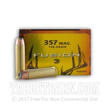 Federal Fusion 357 Magnum Ammunition - 20 Rounds of 158 Grain Fusion