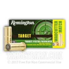 Remington Target 38 Special Ammunition - 500 Rounds of 148 Grain TMWC
