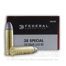 Federal Champion 38 Special Ammunition - 50 Rounds of 158 Grain LRN