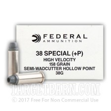 Federal Law Enforcement 38 Special Ammunition - 50 Rounds of +P 158 Grain SWCHP