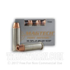 Magtech First Defense 38 Special Ammunition - 20 Rounds of +P 95 Grain SCHP