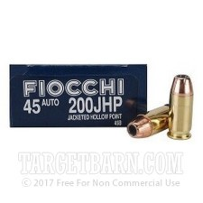 45 ACP 200 gr JHP Fiocchi Ammo For Sale!