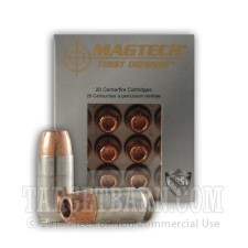 Magtech First Defense 45 ACP Ammunition - 20 Rounds of +P 165 Grain SCHP