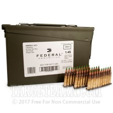 5.56x45 - 62 gr FMJ XM855 - Stripper Clips in Ammo Can - Federal - 420 Rounds