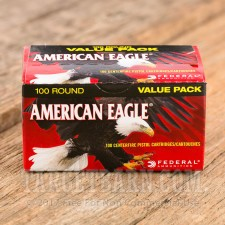 Federal American Eagle 40 S&W Ammunition - 100 Rounds of 180 Grain FMJ
