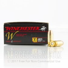 Winchester Train & Defend 40 S&W Ammunition - 500 Rounds of 180 Grain FMJ