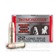 Winchester Super-X 22 LR Ammunition - 100 Rounds of 40 Grain CPHP