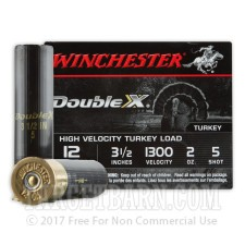 "Winchester Double-X 12 Gauge Ammunition - 10 Rounds of 3-1/2"" 2 oz. #5 Shot"