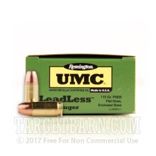 Remington UMC 9mm Luger Ammunition - 50 Rounds of 115 Grain FNEB