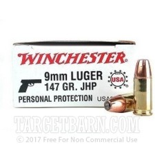 9mm 147 JHP Winchester USA Ammo For Sale!