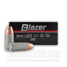 Blazer 9mm Luger Ammunition - 1000 Rounds of 147 Grain FMJ