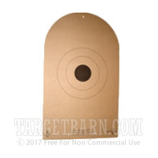 AP-1-P Paper Targets - NRA Action Shooting - Light Paper - 100 Count