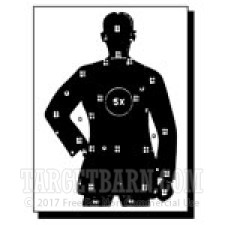 B-30 Paper Targets - 50 Ft Police Silhouette - 100 Count