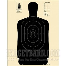 B-27 Paper Targets - 50 Yd Police Silhouette - 100 Count
