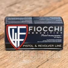 Fiocchi 357 Magnum Ammunition - 50 Rounds of 142 Grain FMJTC