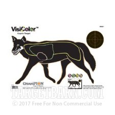VisiColor Practice Coyote Target - Multi-Color Reactive Anatomy - Champion - 10 Count