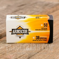 Armscor 38 Special Ammunition - 1000 Rounds of 158 Grain FMJ