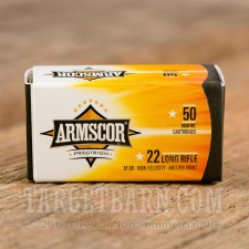 Armscor 22 LR Ammunition - 50 Rounds of 36 Grain HP