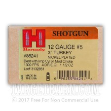 "Hornady Turkey 12 Gauge Ammunition - 10 Rounds of 3"" 1-1/2 oz. #5 Shot"