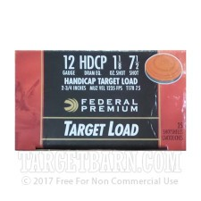 "Federal Target Load 12 Gauge Ammunition - 25 Rounds of 2-3/4"" 1-1/8 oz. #7.5 Shot"