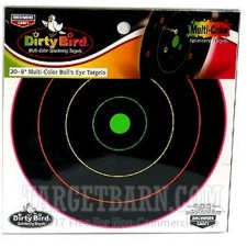 "Birchwood Casey Dirty Bird Multi-Color Targets - 20 Reactive Targets - 8"" Bullseye"