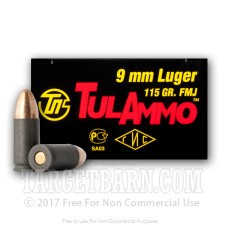 Tula 9mm 115gr FMJ Ammo For Sale