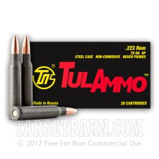 223 Rem - 75 Grain HP - Tula - 20 Rounds