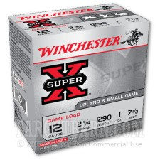 "Winchester Super-X 12 Gauge Ammunition - 25 Rounds of 2-3/4"" 1 oz. #7.5 Shot"