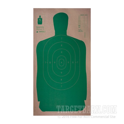 27 green silhouette cardboard targets for sale 25 count