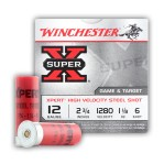 "Winchester Super-X 12 Gauge Ammunition - 250 Rounds of 2-3/4"" 1-1/8 oz. #6 Steel Shot"