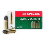 1000rds - 38 Special Sellier & Bellot 158gr. LRN Ammo