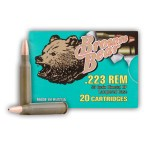 Brown Bear 223 Remington Ammunition - 500 Rounds of 55 Grain HP