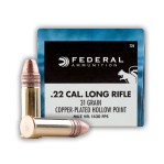 Federal Game-Shok 22 LR Ammunition - 500 Rounds of 31 Grain CPHP